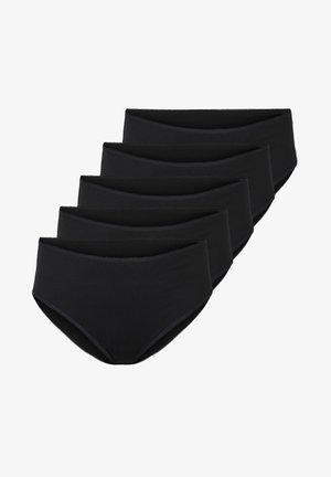 5-PACK HIGH WAIST KNICKERS - Trusser - black