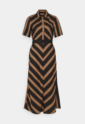 ONLFREDA LIFE  MIDI DRESS  - Sukienka koszulowa - toasted coconut/black
