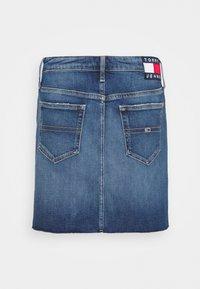 Tommy Jeans - SHORT SKIRT - Mini skirt - blue denim - 6