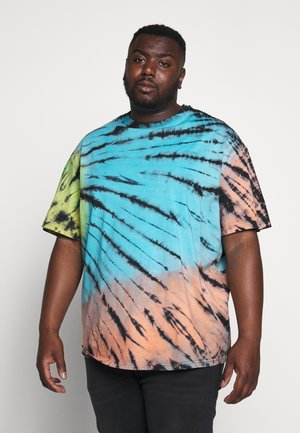 TIE DYE OVERSIZED TEE - T-shirt z nadrukiem - multi-coloured/blue