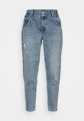 ONLLU LIFE CARROT - Straight leg jeans - light blue denim
