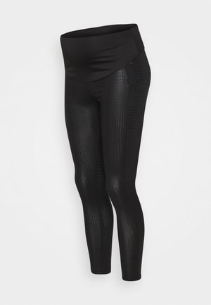 SNAKEPRINT - Leggings - black