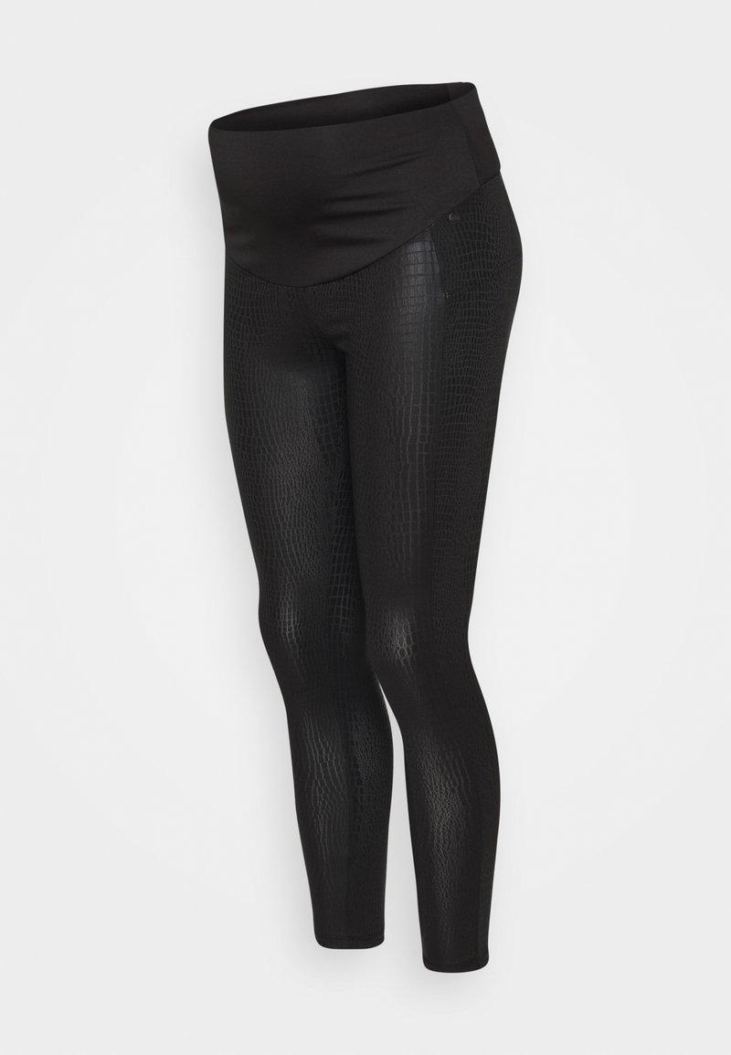 LOVE2WAIT - SNAKEPRINT - Leggings - Trousers - black