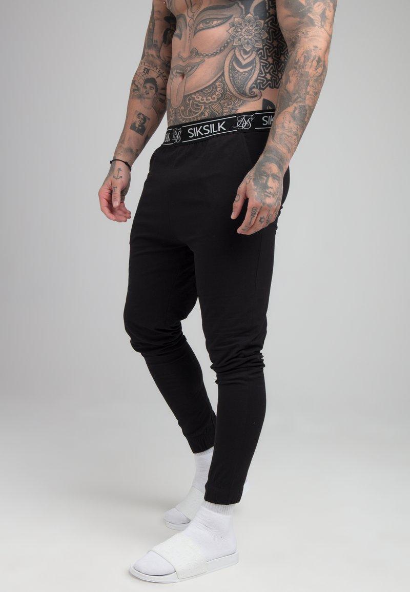 SIKSILK - LOUNGE PANTS - Spodnie od piżamy - black