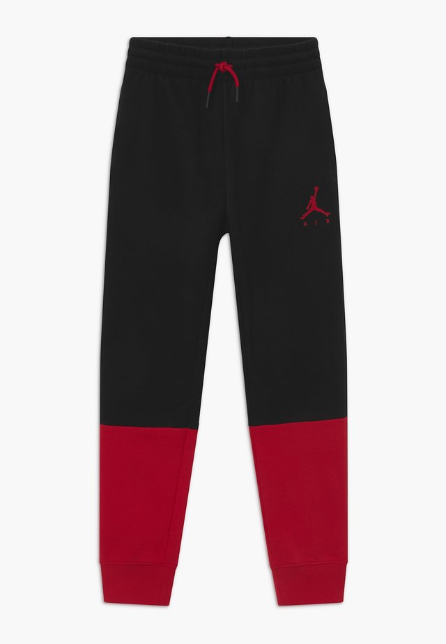 JUMPMAN AIR - Pantaloni sportivi - black/gym red