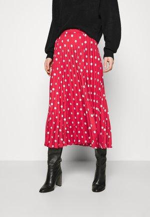 DUTA - A-line skirt - garnet rose mix