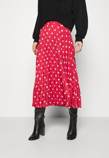 DUTA - Áčková sukně - garnet rose mix