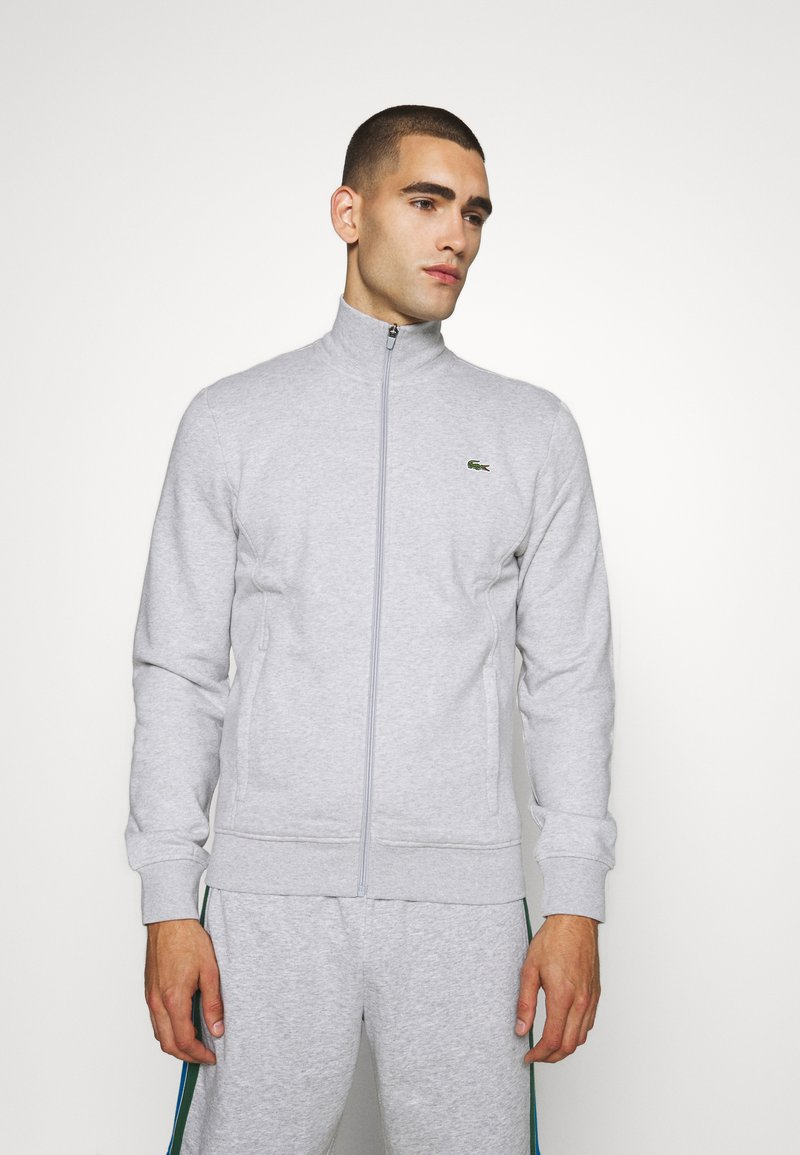 Lacoste Sport - CLASSIC JACKET - Zip-up hoodie - silver chine/elephant grey