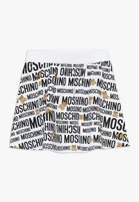 MOSCHINO - SKIRT ADDITION - Minisukně - optic white - 1