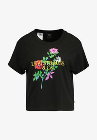 Levi's® - GRAPHIC VARSITY TEE - Print T-shirt - black - 4