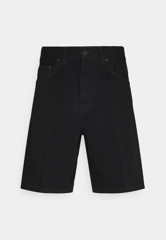 NEWEL MAITLAND - Shorts di jeans - black rinsed