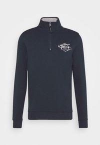 Tommy Jeans - TONAL LOGO MOCK NECK - Sweatshirt - twilight navy - 4