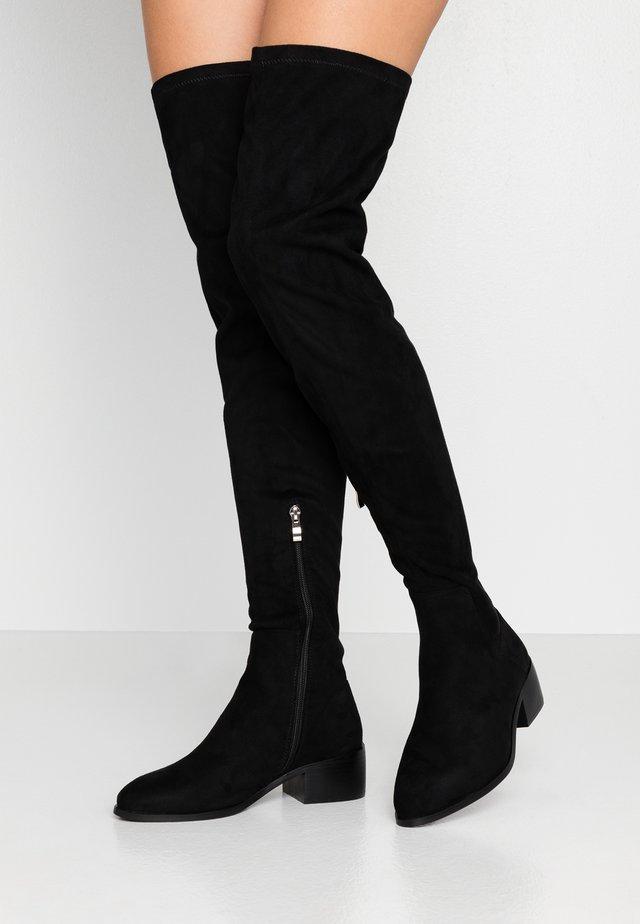 WIDE FIT ELDORA - Over-the-knee boots - black