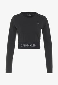 Calvin Klein Performance - LONG SLEEVE TEE - Langærmede T-shirts - black - 5