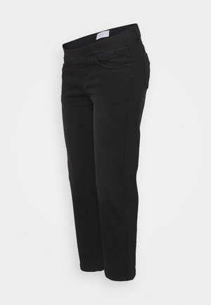 MLMARBELLA CROPPED COMFY   - Relaxed fit jeans - black denim