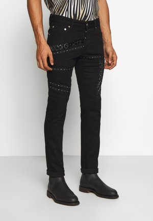 PANTS 5 POCKETS TAPING - Slim fit jeans - black