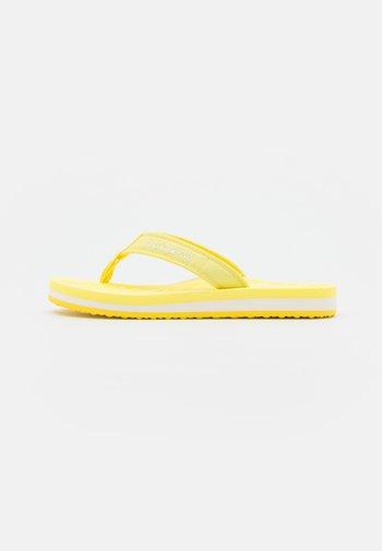STICK - T-bar sandals - freesia yellow