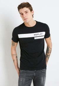 Replay - Camiseta estampada - black - 0