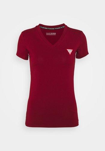 MINI TRIANGLE TEE - T-shirt basic - beet juice red