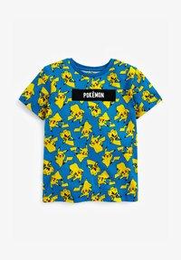 Next - POKEMON ALL OVER PRINT T-SHIRT - Print T-shirt - blue - 0