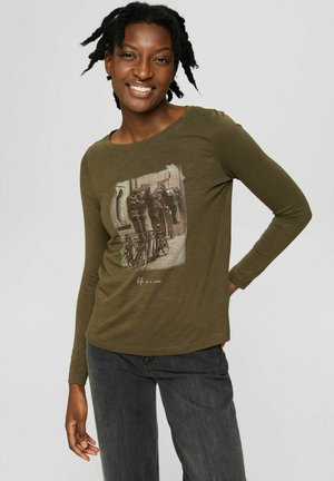 REGULAR FIT - Long sleeved top - dark khaki