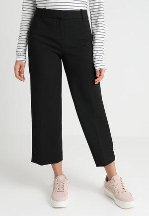 EVERYBODY WIDE LEG - Spodnie materiałowe - black