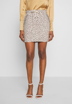 SKIRT JACQUARD - Pencil skirt - pearl white