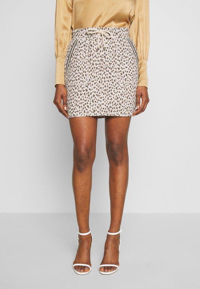 SKIRT JACQUARD - Pencil skirt - pearl white