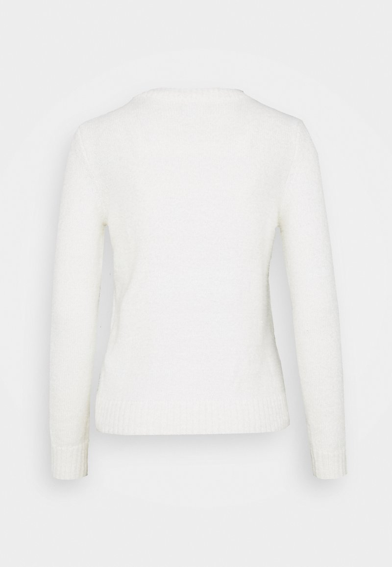 VILA PETITE VIFEAMI ONECK - Strickpullover - whisper white/weiß nFH7wq
