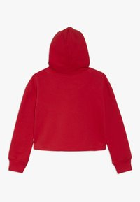 Levi's® - CROPPED BRANDED HOODIE - Mikina s kapucí - super red - 1