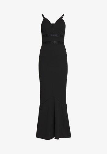 PLUNGE FITTED - Společenské šaty - black