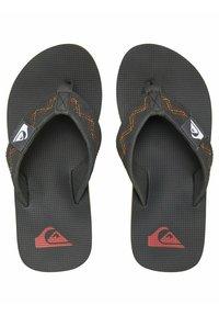 Quiksilver - T-bar sandals - black/grey/yellow - 1