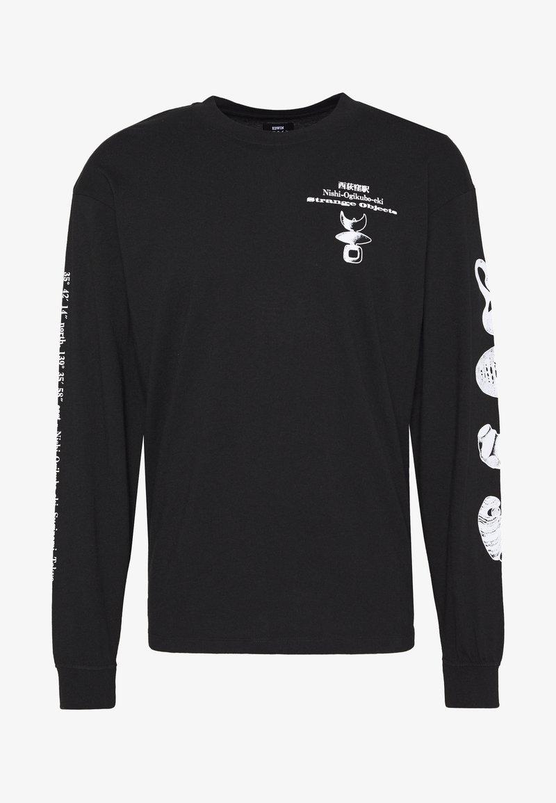 Edwin - STRANGE OBJECTS - Maglietta a manica lunga - black