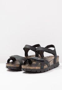 Panama Jack - SULIA BASICS - Sandalen met plateauzool - black - 4