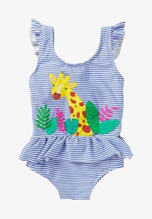 Swimsuit - golfblau/naturweiß giraffe