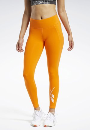 REEBOK LUX 2 LEGGINGS - Tights - orange