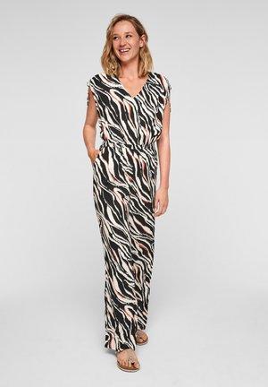 Jumpsuit - black zebra aop