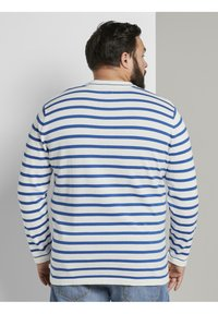 TOM TAILOR MEN PLUS - Jumper - white victory blue stripe - 2