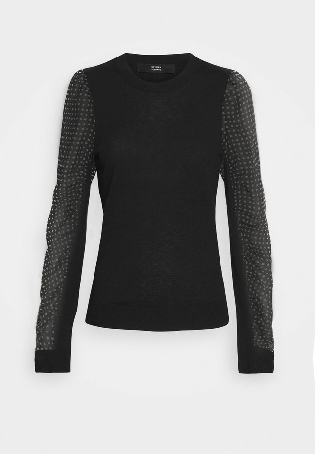 VERONIQUE FANCY PATCH SWEATER - Pullover - black