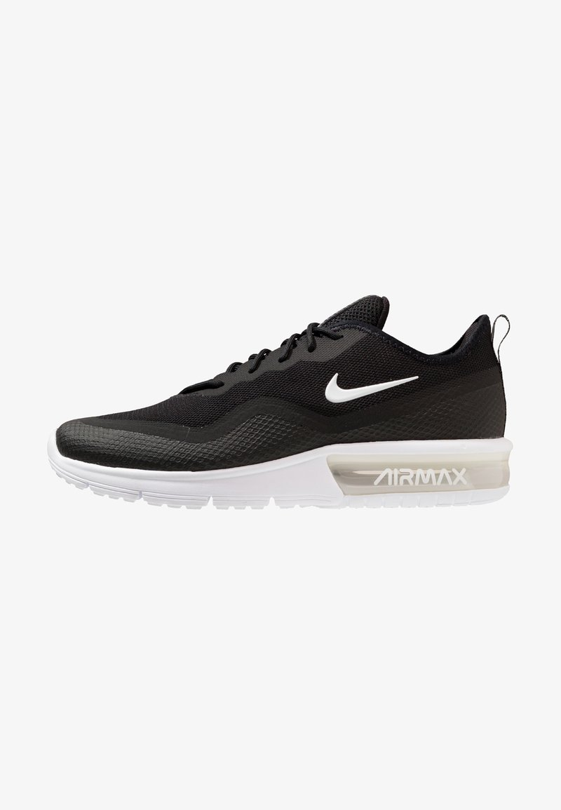 Nike Performance - AIR MAX SEQUENT 4.5 - Neutral running shoes - black/white
