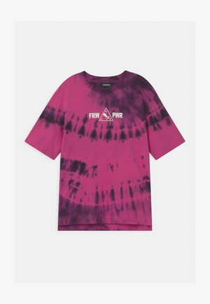 OVER UNISEX - Print T-shirt - deep rose