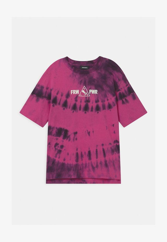 OVER UNISEX - T-shirt con stampa - deep rose