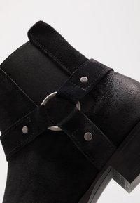 Bianco - BIABEACK WESTERN - Cowboy/biker ankle boot - black - 5