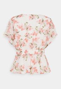 Vila - VIKATHRYN  - T-shirts med print - cloud dancer/flower - 1