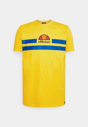 APRELA TEE - T-shirt med print - yellow