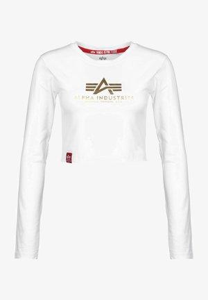 LONGSLEEVE BASIC - Long sleeved top - white/yellow gold