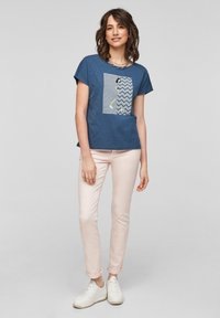 s.Oliver - Print T-shirt - faded blue - 1