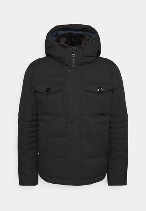 REMOVABLE HOODED BOMBER - Winterjas - black