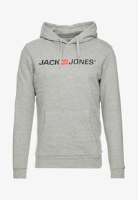 Jack & Jones - JJECORP LOGO HOOD - Hoodie - light grey melange - 3