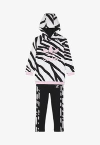 adidas Originals - HOODIE SET - Träningsset - black/white/clear pink - 5